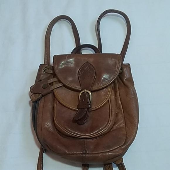 Hidesign Handbags - Vtg Hidesign Brown Leather Backpack Bag